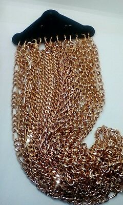 assorted gold plated chain job lot bundle