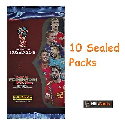 Fifa World Cup 2018 Adrenalyn XL Football Trading Card Packs: 10 Booster Packets