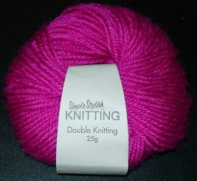 a ) Simple Stylish Stricken - Garn ( Pink, 25 g )