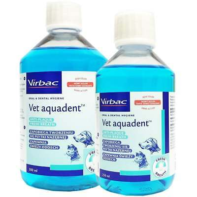 Vet Aquadent Anti-Plaque Solution Water Additive For Dogs & Cats Oral Care 500ml