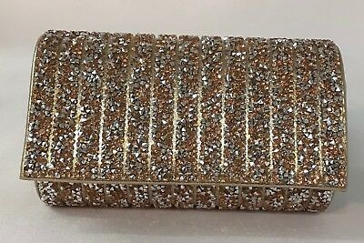 Ladies/Girls Dazzling Diamante Sparkly Party Prom Small Clutch Bag.