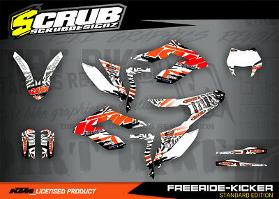 KTM grafik FREERIDE dekor-set SCRUB 250 350 & ELECTRIC 2012 - 2018 '12 - '18