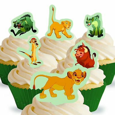 Cakeshop 12 x PRE-CUT Disney Lion King Stand Up Edible Cake Toppers