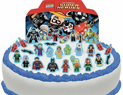 Cakeshop PRE-CUT Lego DC Superhero's Edible Cake Scene - 29 pieces