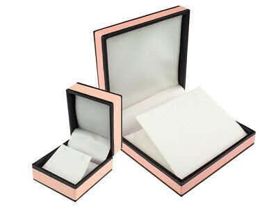 Vintage Pink and Black Finish Jewellery Gift and Display Boxes