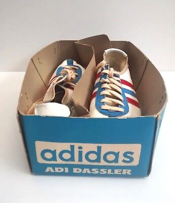 Rare Vintage 1968/69 Adi Dassler Adidas Track Shoes With Box Made In Germany
