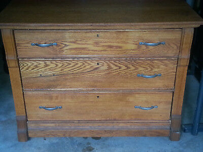 Original Antique Quarter Sawn Oak DRESSER/SIDEBOARD 4 Drawer