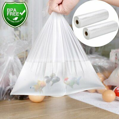 12x20 Clear Plastic Produce Bags 350 / Roll Kitchen Food Storage Bag Supermarket
