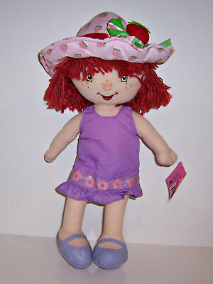 """STRAWBERRY SHORTCAKE 16"""" PLUSH Character DOLL TOY Summer Spring Easter Dress NEW"""