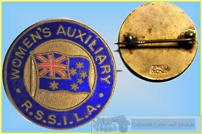 WWII R.S.S.I.L.A.  Women's Auxiliary Enamelled Badge