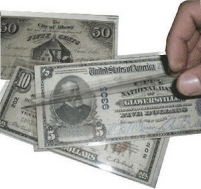Banknote Sleeves Museum Mayler Best Polyester Fractional Size Supersafe 100 Pack