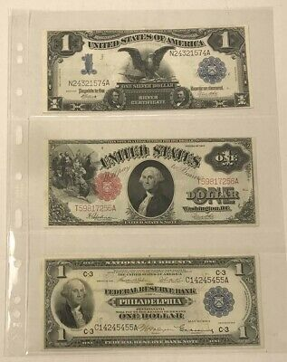 Large Currency Banknote Clear Pages 3 Pockets Lighthouse Grande 3C 5 Pack NEW