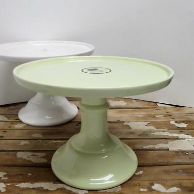 Graces Pantry Teaware PASTEL Mint GREEN Pedestal Cake Plate Stand NEW Easter & NEW GRACES PANTRY TEAWARE 8