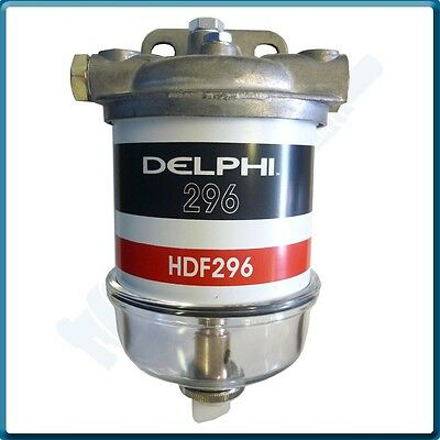 """Diesel Filter Assembly (1/2""""x20unf-Glass Bowl) 5836B325 (Genuine HDF296 Element)"""