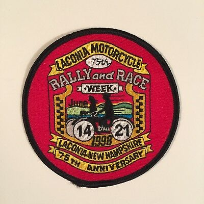 LACONIA MOTORCYCLE 75TH RALLY AND RACE 14 thru 21 1998 NEW HAMPSHIRE PATCH