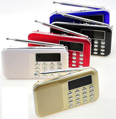 Portable LCD Digital FM Radio Speaker USB Micro SD TF Card Mp3 Music Player KY