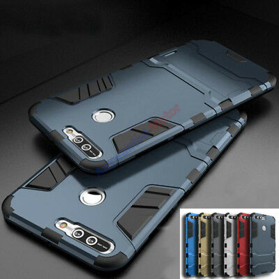 For Huawei 360° Shockproof Hybrid Armor Kickstand Rubber Protective Case Cover