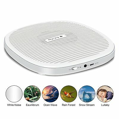 AuCuTee Portable Sound Machine, 20 Soothing Sleep Therapy White Noise Machine