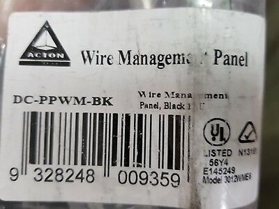 Wire Management Panel Action Systems DC-PPWM-BK
