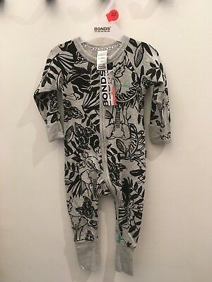 Bonds Baby Zip Wondersuit/babygrow Nwt Toucan Play Unisex All Sizes