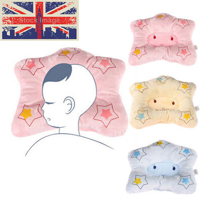 UK 1pcs Newborn Baby Boy Girl Anti-roll Pillow Head Sleeping Positioner Bear
