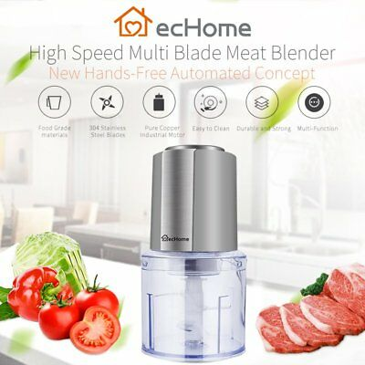 ecHome Multifunctional 4-Blades 600ml Food Mixer Chopper Processor Grinder 300W