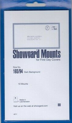 Showgard Stamp Mounts: 165/94 For FCD First Day Covers Black Pack Of 10