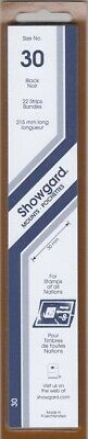 Showgard Stamp Mount Strips 30mm Black US Special Stamps, Jamestown Pack Of 22