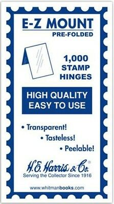 HE Harris Prefolded Stamp Hinges EZ Easy Mount 1000 Trasparent Peelable NEW