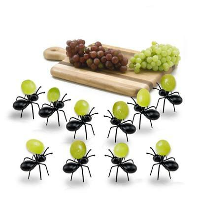 12pcs Kawaii Ant Shape  Food Fruit Picks Fork Stick Bento Birthday Party UK
