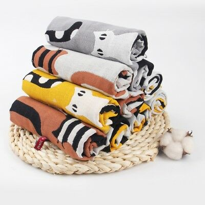Cat Pattern Pure Cotton Healthy Face Bathroom Towel Comfortable Durable Soft