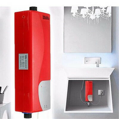3000W Tankless Instant Electric Hot Water Heater Kitchen Bathroom Shower System