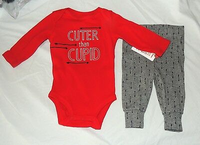 48b62cf72e99 New Carters Baby First Valentines Outfit Cuter than Cupid Sizes Newborn -9 M