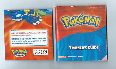 No Game Pokemon Ruby Sapphire Trainer's Guide Instruction Manual Gameboy Advance