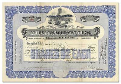 Eclipse Consolidated Oil Company Stock Certificate