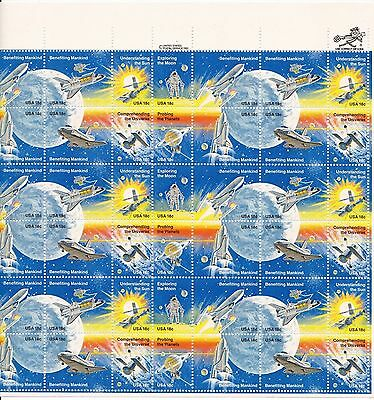 Us Scott #1919A 18 Cents 1981 Space Achievement Full Sheet Of 48 Mnh Og