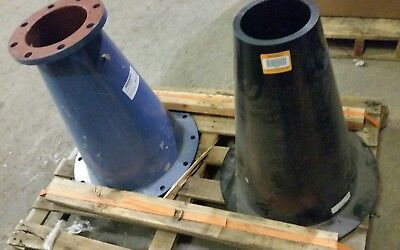 Krebs Pipe Cone and Neoprene Liner 15in inlet 7in outlet