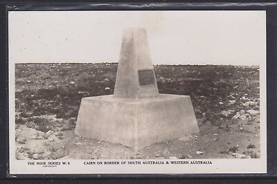 Postcard:1941 The Trans Australian Railway Card. Cairn On Boarder Of S.a. W.a.