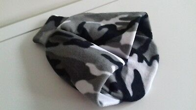 Grey Camouflage Fleece Feet Pouch Slippers Cover Only for Hot Water Bottle 2L