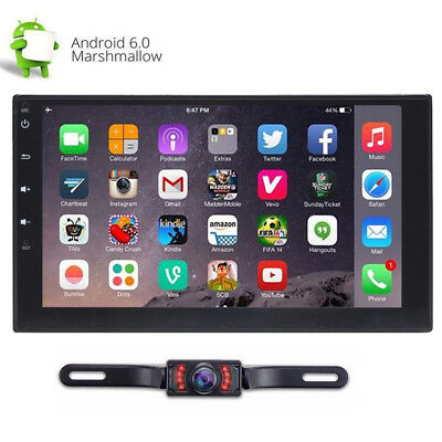 7'' Android 6.0 Double 2DIN Navi Sat Car GPS Stereo Radio WiFi Bluetooth Player