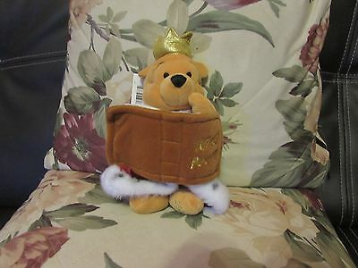 Soft Plush Jubilee King Pooh 2002 From Disney's Winnie The Pooh