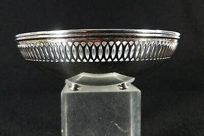 Tiffany & Co. Makers Sterling Silver Reticulated Footed Bowl
