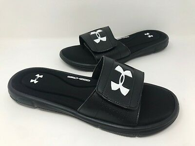 d812f9fbb46 NEW! MEN S UNDER Armour 1287318-001 Ignite V Slide Sandals Black E9 ...