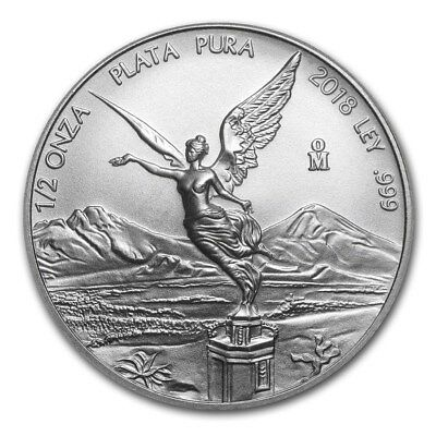 2018 Mexico Libertad 1/2 oz .999 Silver BU Round Limited Bullion Coin