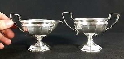 Webster Co. Sterling Silver Cream & Sugar Classical Design