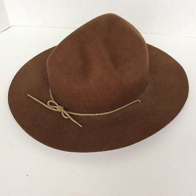 Official Canadian Boy Scout Wool Leaders Hat Vintage Made In Ottawa Canada