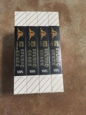 Studio Grade vhs tapes new blank sealed T-120 480 units 10 boxes