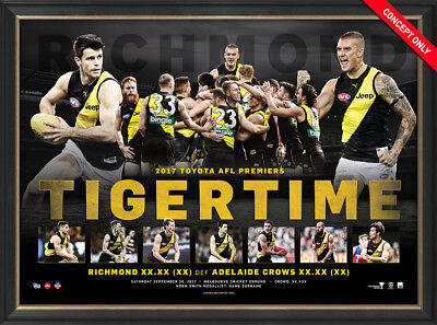 Richmond 2017 Afl Premiers Framed Official Sportsprint Riewoldt Martin Cotchin