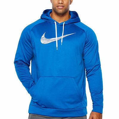 6cb8f140 NIKE LONG SLEEVE Full Zip Thermal Hoodie Big and Tall Dri-Fit Navy ...