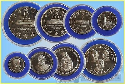 "Europe Set of ECU ""Coins"" 1987 in Case 1,2,5,10 Ecus"